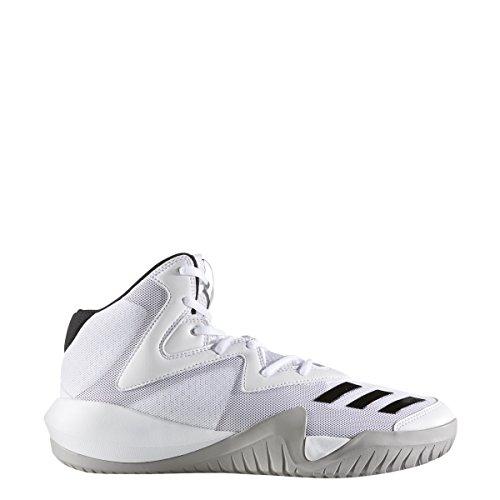 Adidas Mens Squadra Pazza 2017 Scarpa Da Basket Bianco-core Grigio Nero-solido