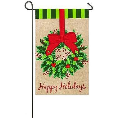 Evergreen Enterprises, Inc Christmas Wreath Garden Flag