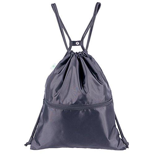 HOLYLUCK Men & Women Outdoor Sport Gym Sack Waterproof Drawstring Backpack Bag(Black) Review