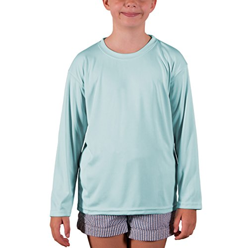 Vapor Apparel Youth UPF 50+ UV Sun Protection Performance Long Sleeve T-Shirt Medium Arctic Blue