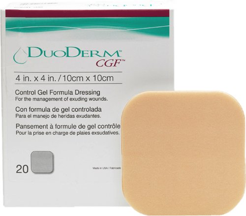 DuoDerm CGF Sterile Dressing 4'' x 4'' (Box of 20 Each) by ConvaTec