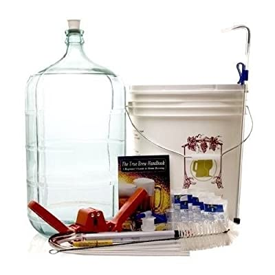Monster Brew Home Brewing Supp Complete Beer Equipment Kit (K6) with 6 Gallon Glass Carboy, Gold