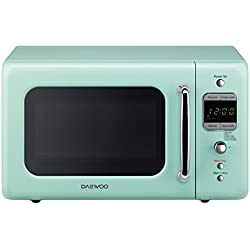 Daewoo Retro Microwave Oven 0.7 Cu Ft, Mint Green 700W