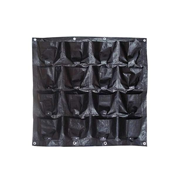 Borsa per piante Black Wall colore pensili Piantare Borse 16 tasche coltiva il sacchetto Planter verticale Orto Living… 1 spesavip