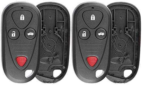 - KeylessOption Keyless Remote Car Key Fob Shell Case Button Pad Cover for Acura MDX, RSX, TL, CL, RL E4EG8D-444H-A, OUCG8D-387H-A (Pack of 2)