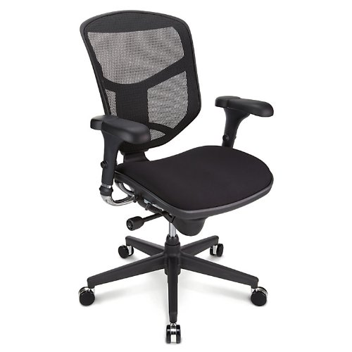 Series Mid Back Fabric Chair (WorkPro Quantum 9000 Series Ergonomic Mid-Back Mesh/Fabric Chair, Black)