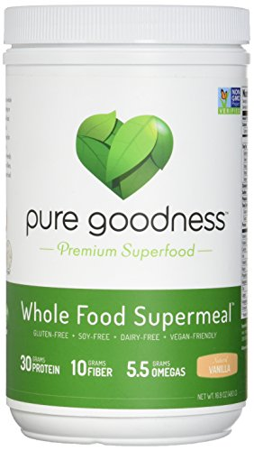 Pure Goodness Whole Food Supermeal Vanilla, 16 Ounce, Vegan Meal (Whole Food Meal)