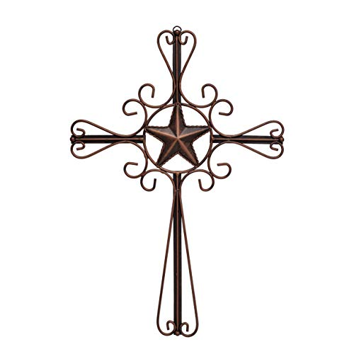EBEI Metal Cross Wall Decor Vintage 18