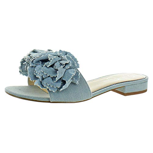 Jessica Simpson Womens Caralin Denim Casual Slide Sandals Blue 12 Medium (B,M)