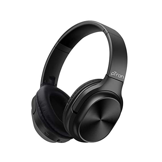 pTron Studio Classic Over Ear Wireless Headphones, Bluetooth 5.0, Hi-Fi Sound with Bass, 20Hrs Playback, Ergonomic
