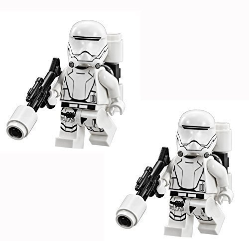 (LEGO Star Wars - 2 minifigures of First Order Flame Trooper with weapon from)