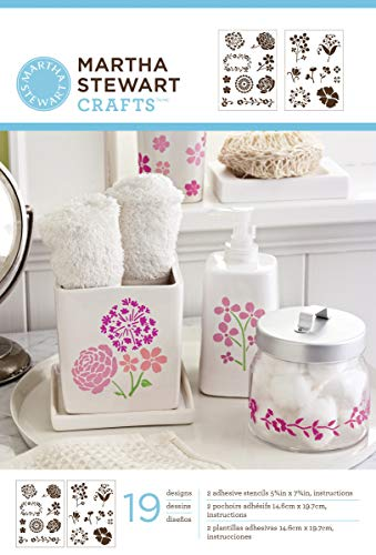 (Martha Stewart Crafts Adhesive Stencils (5.75 by 7.75-Inch), 32269 19 Blossoms Designs)