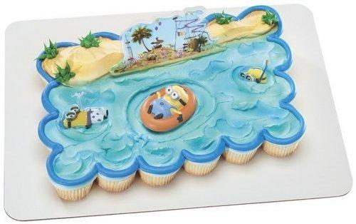 Despicable Me Beach Party DecoSet Cake Decoration.