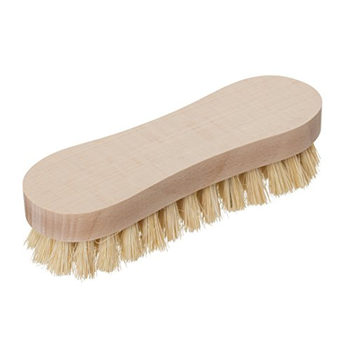 Redecker Tampico Fiber Scrub Brush with Untreated Beechwood Handle, 6-1/2 inches, Durable Natural Bristles are Heat-Resistant and Retain Shape, Made in Germany