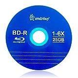 Smartbuy 50 Pack Bd-r 25gb 6X Blu-ray Single Layer