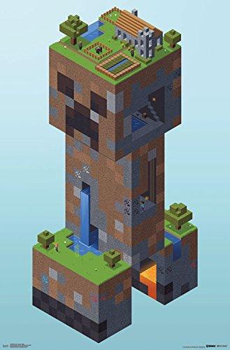 Trends International Minecraft Creeper Village Wall Poster 22.375