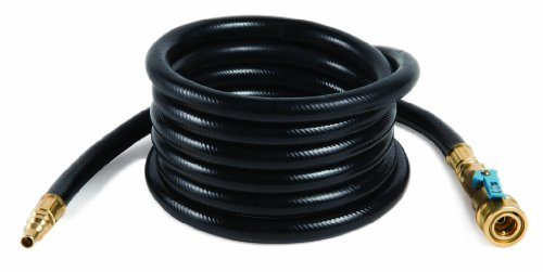 Camco 10ft Heavy Duty Quick-Connect RV Propane Hose, Connects RV Propane Supply with Olympian 5100, 5500 and Other Low Pressure Grills  (57282)
