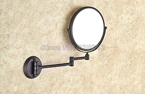 Allegro Huyer Wall Mount Makeup Mirror 8x5'' Portable Stainless Steel Bathroom Makeup Shaving Mirror 3X Magnifying Wall Mounted Comestic Mirror