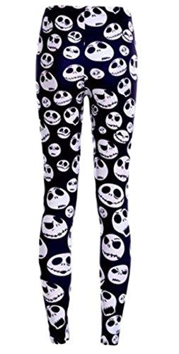Nightmare Before Christmas Jack Skellington One Size Fits Most Novelty Leggings -