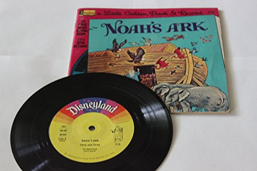 "Price comparison product image Noah's Ark 24-Page Read Along Book with 7"" 33 1/3 RPM Vinyl Record; Little Golden Book & Record by Disneyland Records - 1976"