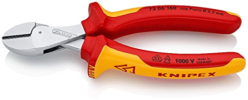 73 06 160 T BK COMPACT Diagonal Cutters ''x-Cut'' VDE-Tested with Tether Attachment Pt. In Blister Packaging by KNIPEX Tools