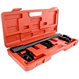 ABN 1/2 Inch Drive SAE Inner Tie Rod Removal Tool Kit – Inner Tie Rod Tool Set with Tie Rod Puller Tool and 3 Adapters
