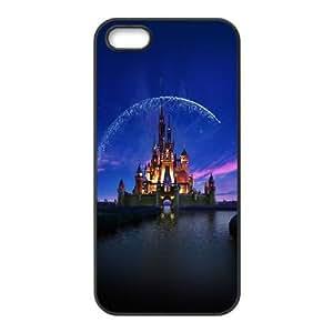 iPhone 5,5S Phone Case Black ac76 disney castle artwork illust sky TYTH3764912