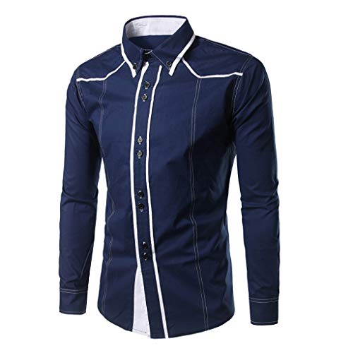 Dress Shirt Premium Casual Inner Contrast Fashion Slim