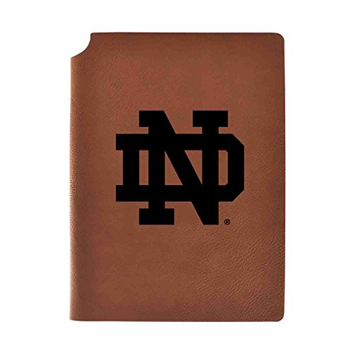 1/2 College Rule 80 Sheets - University of Notre Dame Velour Journal with Pen Holder|Carbon Etched|Officially Licensed Collegiate Journal|