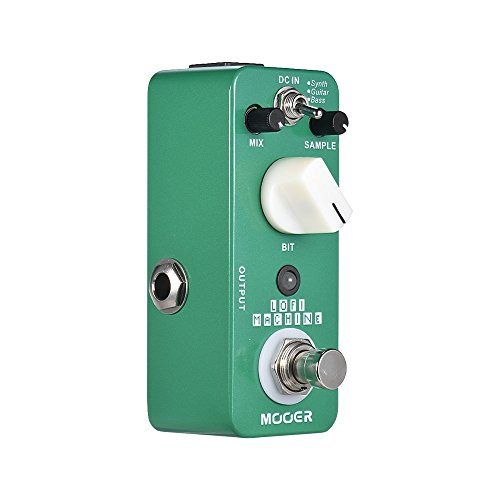 Sample Reducing Guitar Effect Pedal,Muslady MOOER LOFI MACHINE 3 Modes True Bypass Full Metal Shell by Muslady