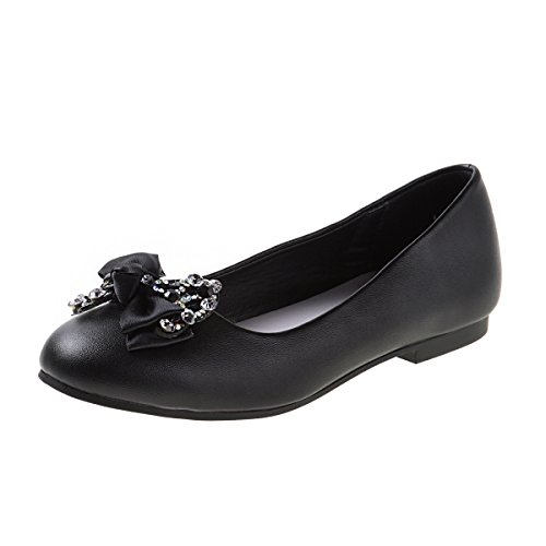 f976d9db9fb5 Nanette Lepore Girls Ballet Flats with Rhinestone Bow Over Toe (Little Kid