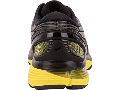 ASICS Men's Gel-Nimbus 21 Running Shoes, 7M, Black/Lemon Spark by ASICS (Image #4)