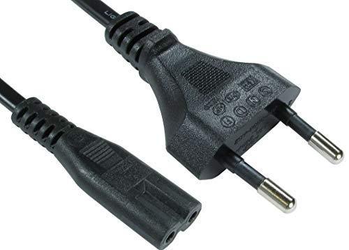 C2G 2m European Non-Polarised Power Cord CEE 7//7 to IEC 60320 C7 CEE 7//7 to IEC 60320 C7 Babz 1m European Non-Polarised Power Cord
