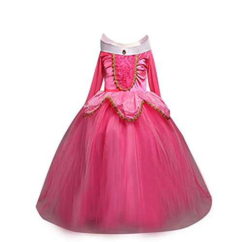 Toddler Baby Girl Kids Princess Dress Sleeping Beauty Performance Costume Party Gown 2-7T (Beauty Pageants Dresses)