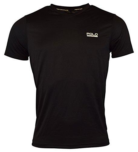 Ralph Lauren Polo Sport Mens Performance V-Neck Graphic T-Shirt - XL - Polo Black