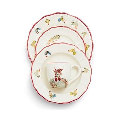Sur La Table Jacques Pepin Collection 16-Piece Chickens Dinnerware Set 2016/87