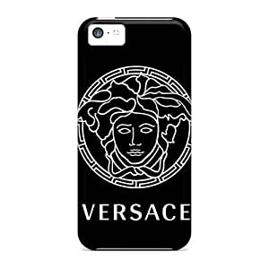 LJF phone case Elaney Iphone 5c Well-designed Hard Case Cover Versace Theme Protector