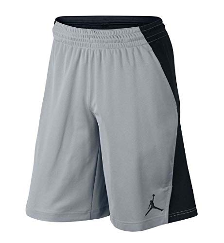 Nike Jordan Men's Basketball Flight Air Shorts-Wolf Grey/Black-Small