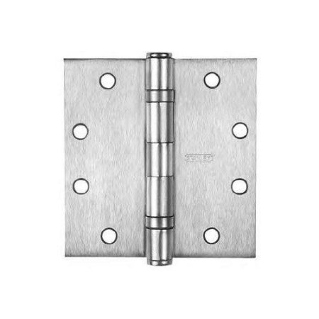 Stanley FBB191 Stainless Steel 5 Knuckle Ball Bearing hinges 4-1/2'' Inch X 4-1/2'' Inch Stainless Steel-Pack Of 3 by Stanley Hardware