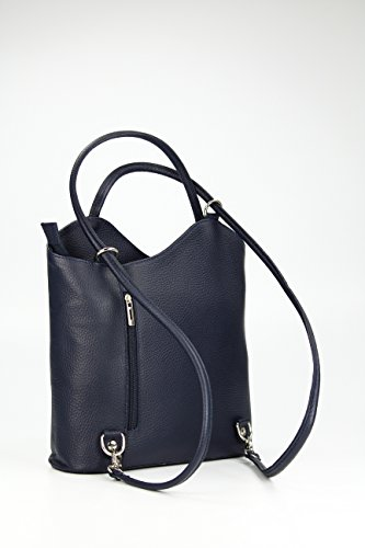 Leather X Xh For X In Prof 28 Backpack Shoulder 28 1 X 2 Bag Dark Blue Ital anch Belli 8 Bag Woman Cm 5Yw6qxU6HC