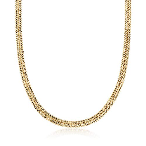 Ross-Simons 14kt Yellow Gold Double-Row Link Necklace ()