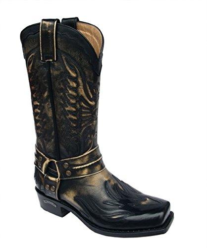 Sendra Boots 6341 schwarz-terra