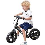 "PHAT Kids Balance Bike, 12"" Wheels, Kids Bicycle for Ages 2 to 5 Years, Black"