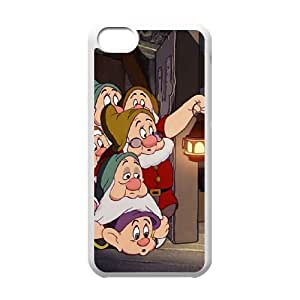 Disneys Snow White and the 7 Dwarfs Funda iPhone 5c Funda Caja del teléfono celular blanco P7I7UP