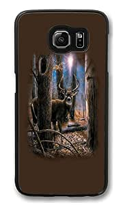 Samsung Galaxy S6 Case, Woodland Sentry Buck High Quality Hard Shell Snap-on Case for Samsung Galaxy S6 Black Bumper