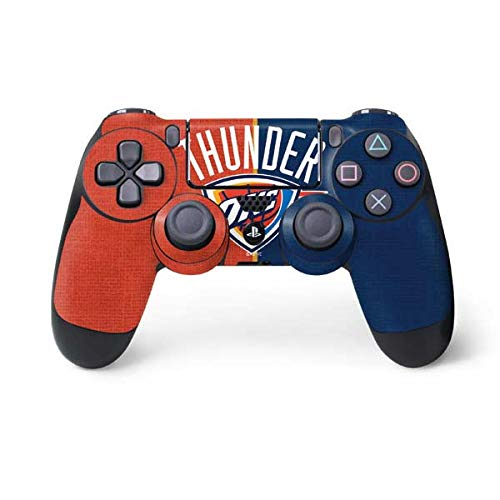 Skinit OKC Thunder Split PS4 Controller Skin - Officially Licensed NBA Gaming Decal - Ultra Thin, Lightweight Vinyl Decal Protection ()