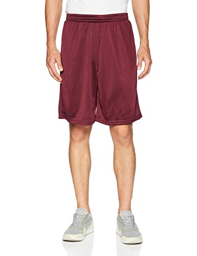 Tesla TM-MBS02-BCK_X-Large Cool Mesh Basketball Shorts Smooth HyperDri with Pockets ()