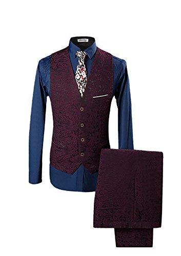 Cloudstyle Haut de qualité affaires mariage trois pièces costume homme-costume moderne