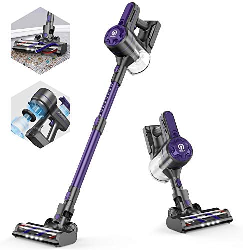 ONSON Cordless Vacuum, Stick Vacuum Cleaner with 20Kpa Super Suction, 80000 RPM High-Speed Brushless Motor, 4 in 1 Pro Lightweight Handheld Vacuum Cleaner for Hardwood Floor Carpet Pet Hair