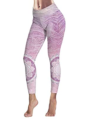Women's Capris Printed Custom Leggings Mandala Theme High Waist Yoga Running Workout Pants